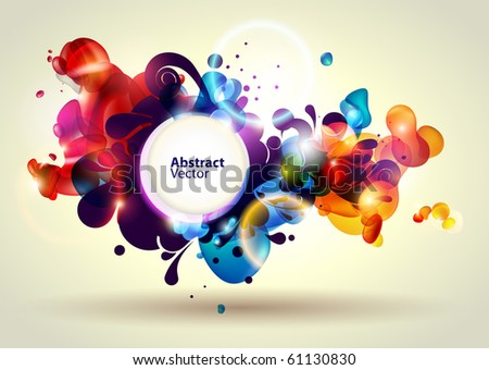 Abstract modern banner. - stock vector