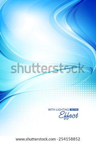 Abstract modern blue color background with lighting effect. Cover design template layout for corporate business book, booklet, brochure, flyer, poster, banner. Vector