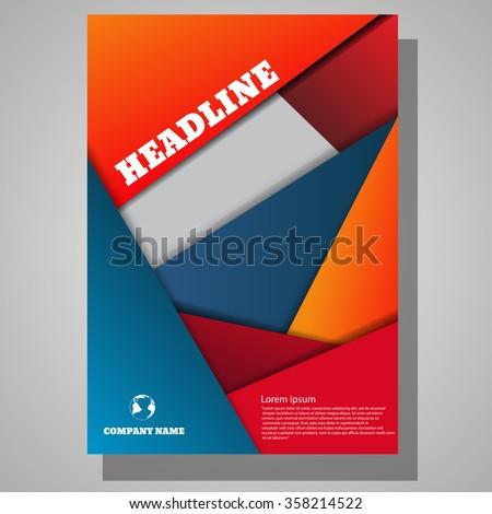 Abstract modern brochure design eps 10 vector illustration - stock vector