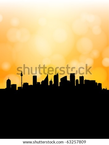 Abstract modern city (fully editable and can be combined with other silhouettes)