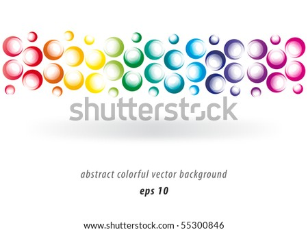 Abstract modern colorful background design elements (eps10) - stock vector