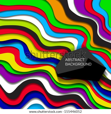 Abstract modern colorful  background/ vector - stock vector