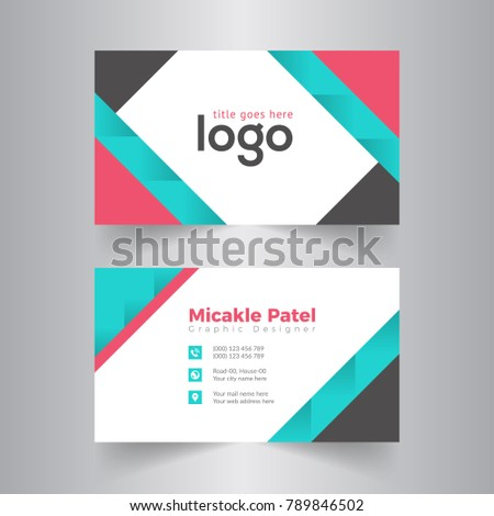 Abstract modern creative business card name stock photo photo abstract modern creative business card and name cardhorizontal simple clean template vector design colourmoves