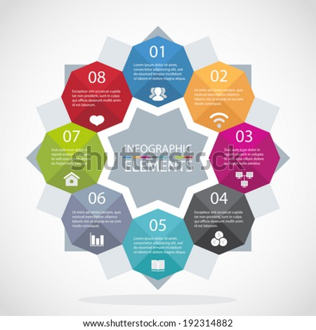 Abstract modern 3D digital illustration infographic layout - stock vector