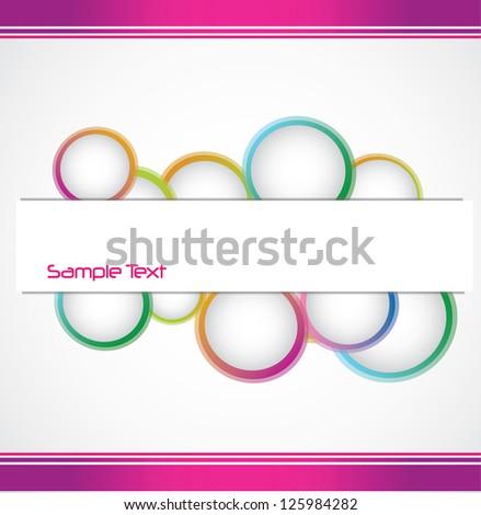 abstract modern design banner for banner - stock vector