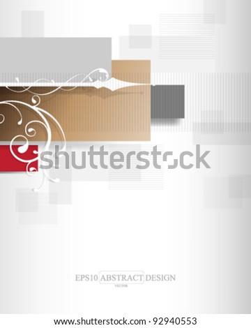 abstract modern floral concept design. eps10 vector format - stock vector