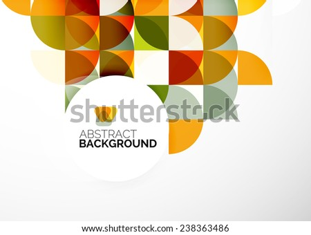 Abstract modern flyer - brochure design template, geometric background - stock vector