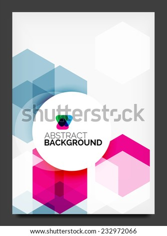 Abstract modern flyer - brochure template. Business web page, application background - stock vector