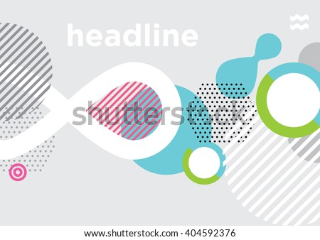 Abstract modern geometric background/ Annual Report Cover Design - stock vector