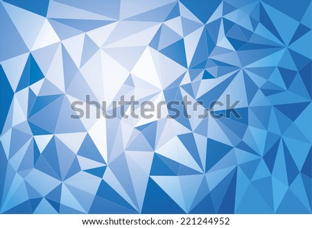 Abstract modern geometric polygonal background. Duotone EPS 10 file for easy editing. - stock vector