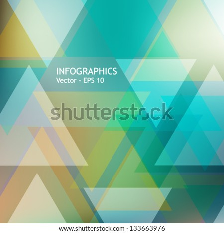 Abstract modern geometric template with triangles