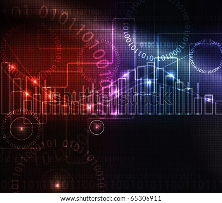 abstract modern glowing  background with graph