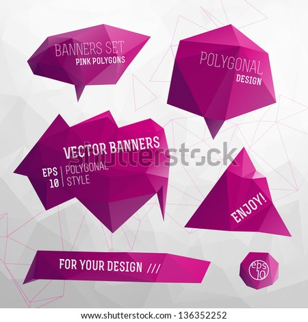 Abstract  modern Label, bubble and header. Vector Illustration, eps10, contains transparencies. - stock vector