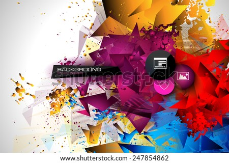 Abstract modern polygonal background for brochure and covers, made with geometrical shapes to use for posters, book cover, flyer and advertisement material - stock vector