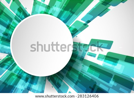 Abstract modern technology background. Vector - stock vector