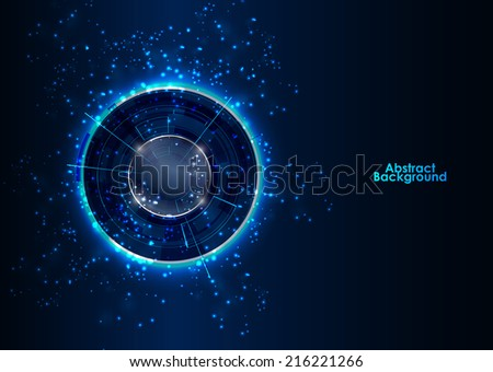 Abstract Modern technology circles vector background - stock vector