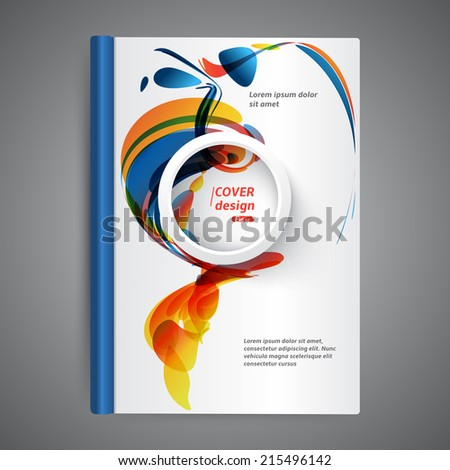 Abstract modern template book cover - stock vector