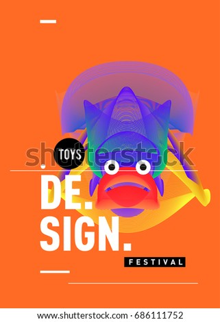 abstract modern toys design festival poster stock vector royalty