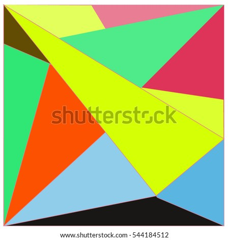 Abstract colorful background square frames vector stock for Space material design