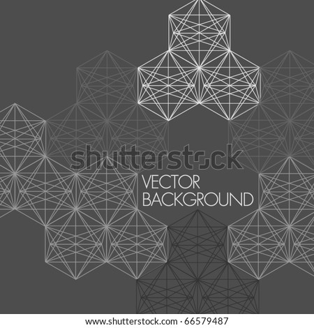 Abstract modern vector background - stock vector
