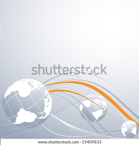 abstract modern vector background. Concept of global connection