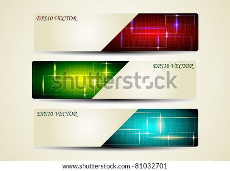 abstract modern website - stock vector