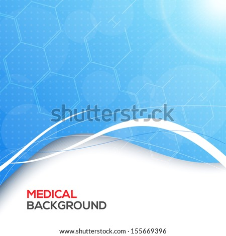 Abstract molecules medical background. - stock vector