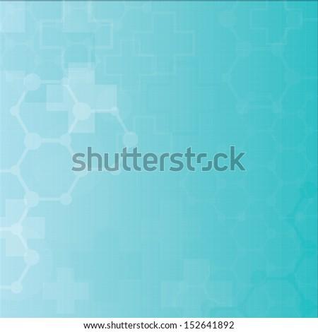 Abstract molecules medical background (Vector). - stock vector