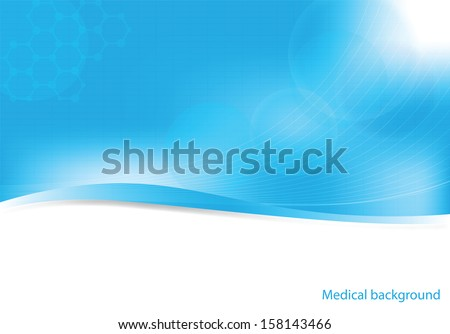Abstract molecules medical background (Vector). - stock vector