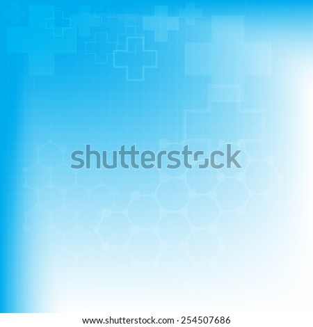 Abstract molecules medical background, vector illustration - stock vector