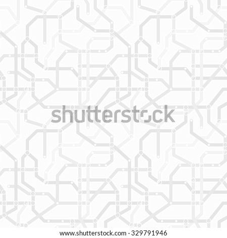 Abstract monochrome gray and white metro scheme seamless pattern. Transport concept wallpaper vector eps8 texture - stock vector