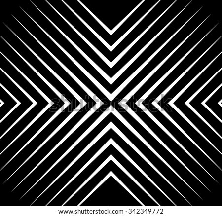 Abstract monochrome vector pattern / background. Seamlessly repeatable. - stock vector