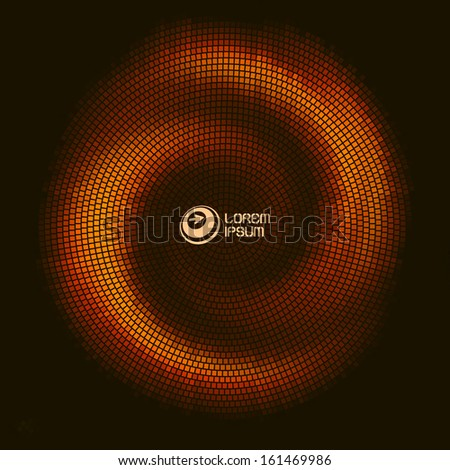 Abstract mosaic background. Vector illustration.  - stock vector