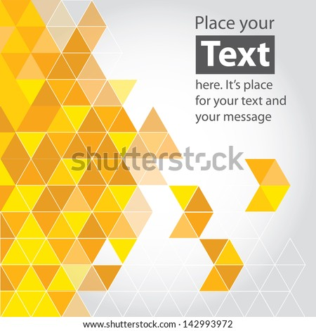Abstract mosaic background. Yellow cubic geometric background. Design elements. Layered file - stock vector