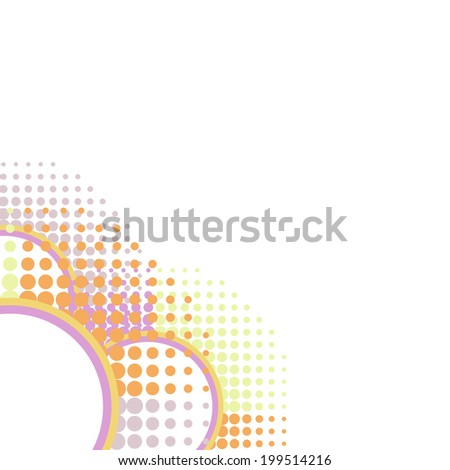 Abstract mosaic colorful circles background