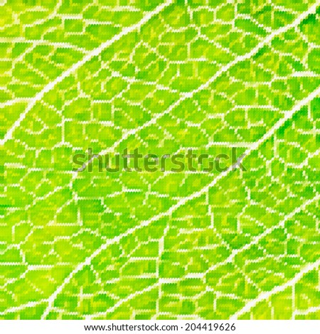 Abstract mosaic colorful leaf macro background. Modern design. Vector illustration.