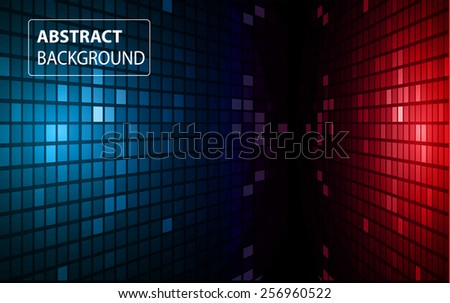 abstract mosaic red blue background with gloss. table. Technology background set for computer graphic website internet and business. text box. Brochure. card.