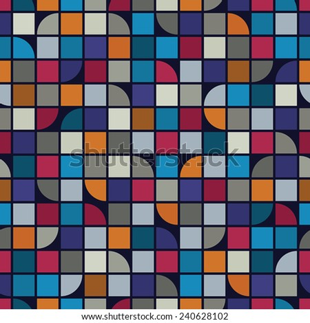Abstract mosaic seamless background, vector geometric seamless pattern.  - stock vector