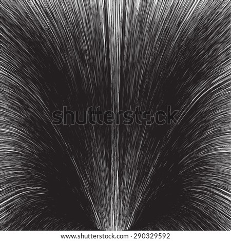 Abstract motion star trail in black and white. - stock vector