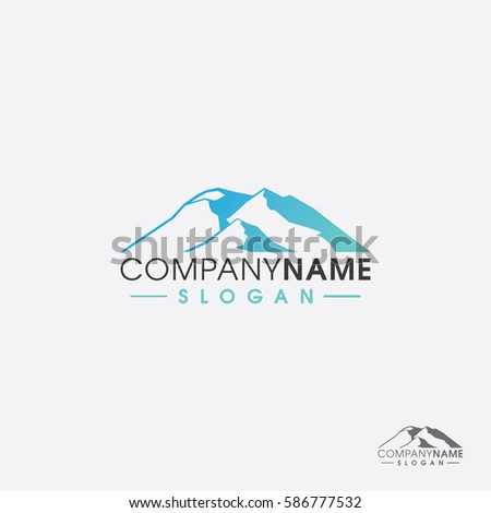 abstract mount logo template