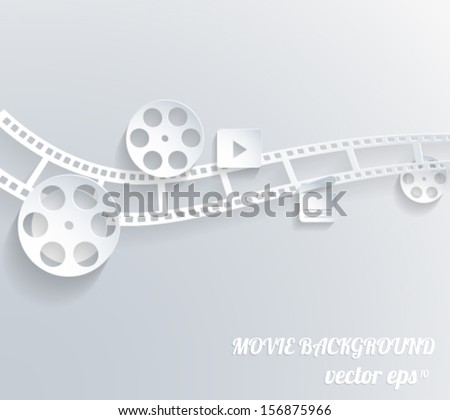 Abstract movie background. 3d paper design. Vector eps10.  - stock vector