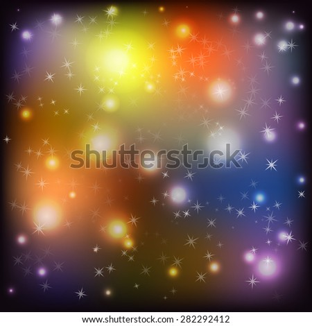 Abstract muddy space dark background - a vector illustration - stock vector