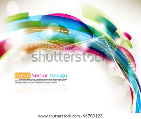 Abstract multicolor background - stock vector