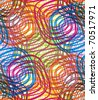 Abstract multicolor circles seamless pattern. Vector background. - stock vector