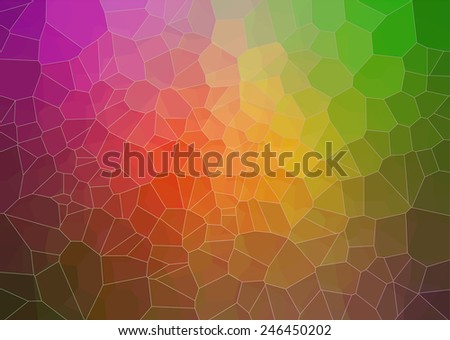 abstract multicolor composition with ceramic  geometric shapes - stock vector
