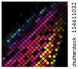 Abstract multicolor lights disco tile vector background. - stock vector