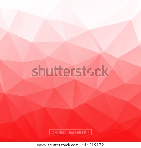 Abstract multicolor mosaic background. Polygonal background. Hexagon pattern - stock vector