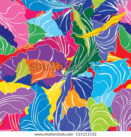 Abstract multicolor seamless pattern background - stock vector