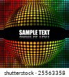Abstract Multicolor Spherical Background with space for text. - stock vector