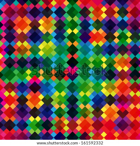 Abstract multicolor square pattern background - vector art - stock vector